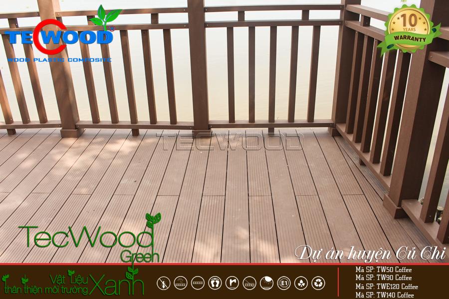 sàn gỗ ngoài trời dùng cho hạng mục thi công nào