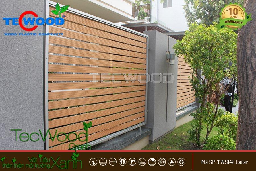 thi công hàng rào, cổng gỗ nhựa