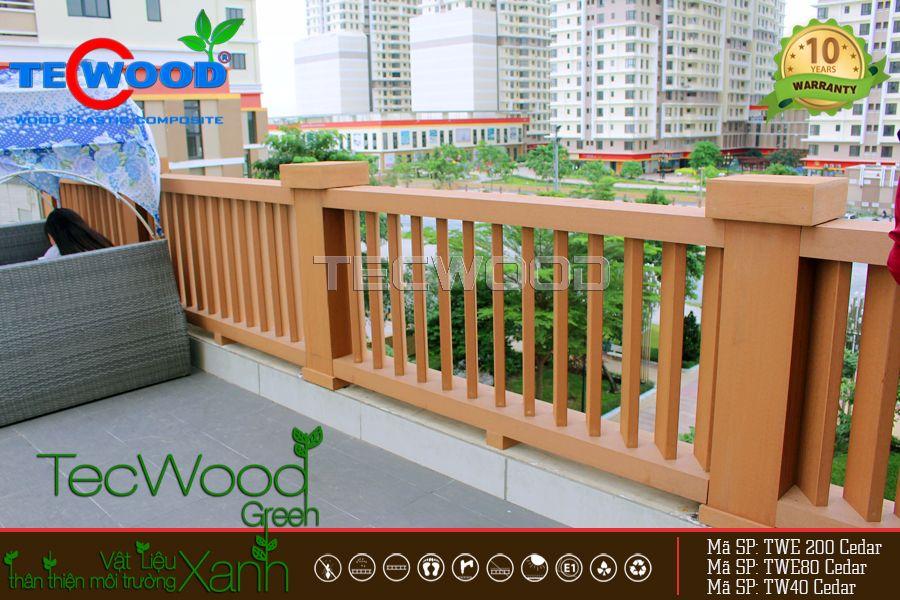 trụ cột gỗ nhựa TWE200