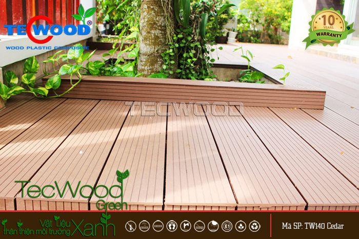 Lót sân vườn bằng sàn gỗ