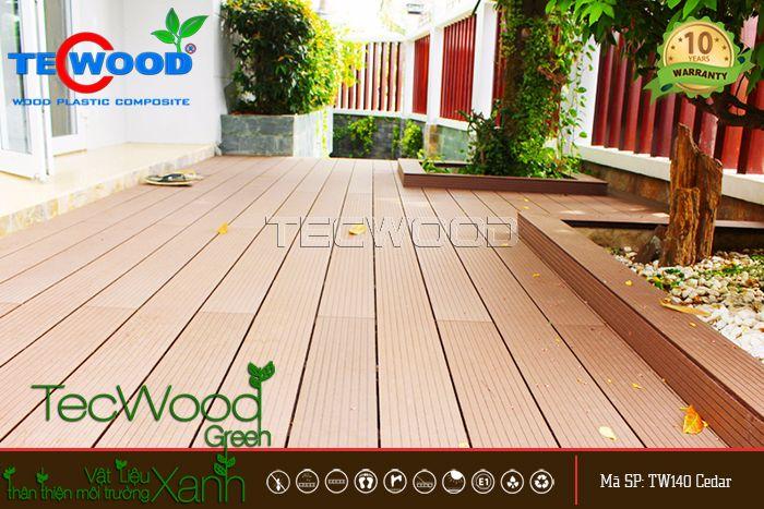 sàn gỗ lát sân vườn