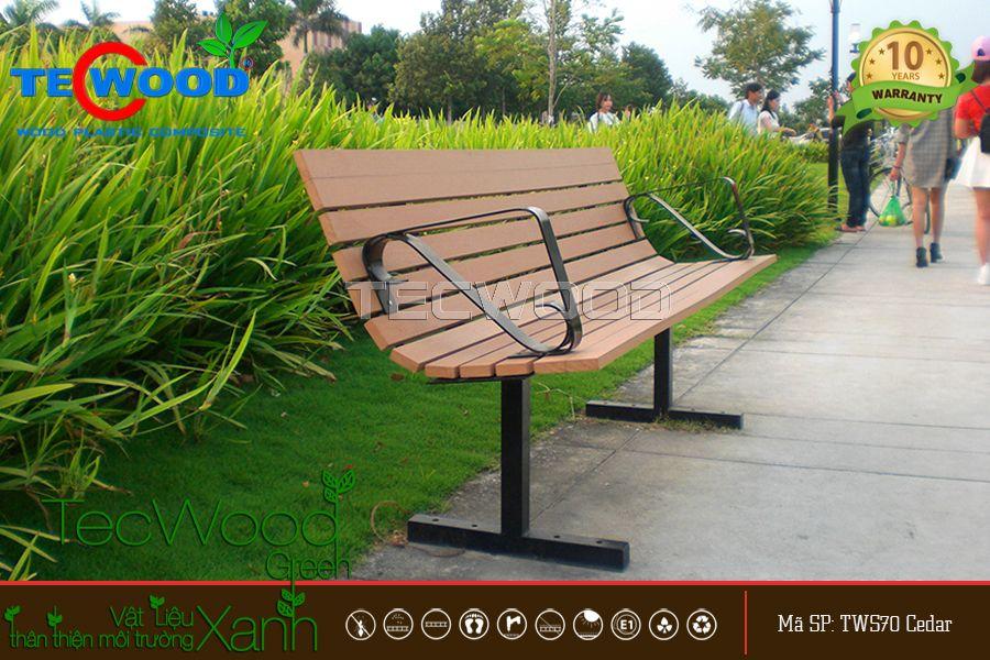 gỗ nhựa ngoài trời TecWood làm bàn ghế.