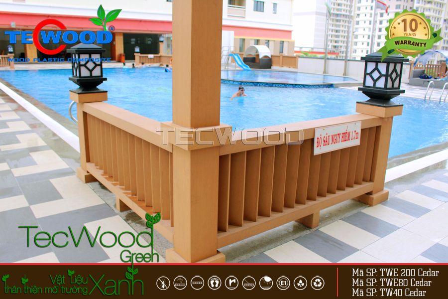 Chung cư đức khải Q7 được trang trí bằng gỗ nhựa TecWood