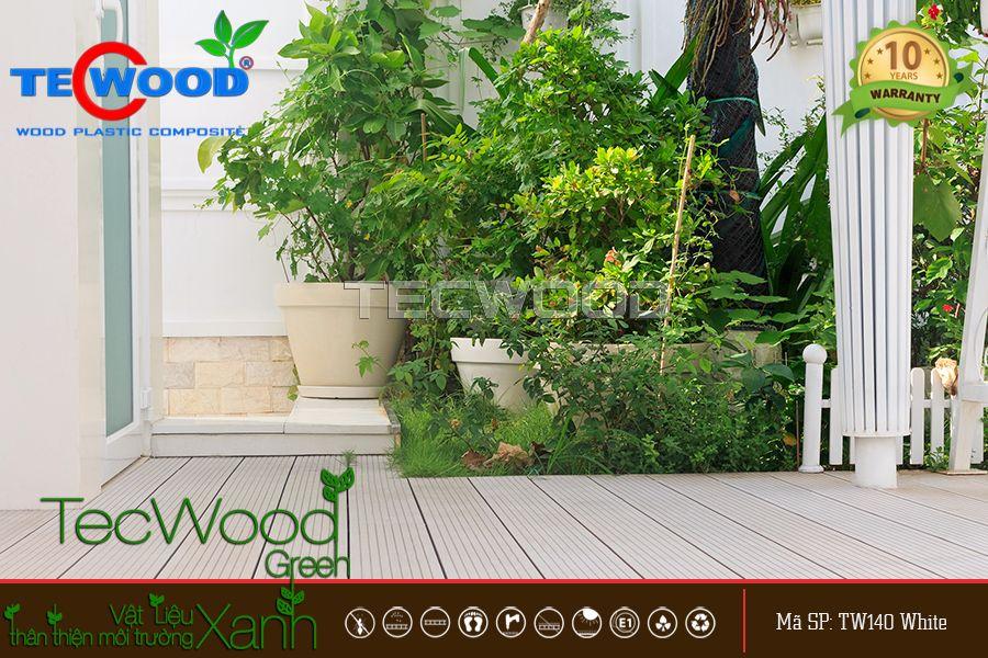 sàn gỗ ngoài trời tecwood tw140 white