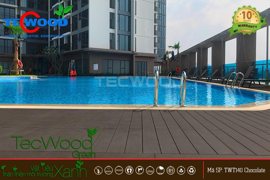 Dự án tecwood lót sàn hồ bơi tại Eco Green