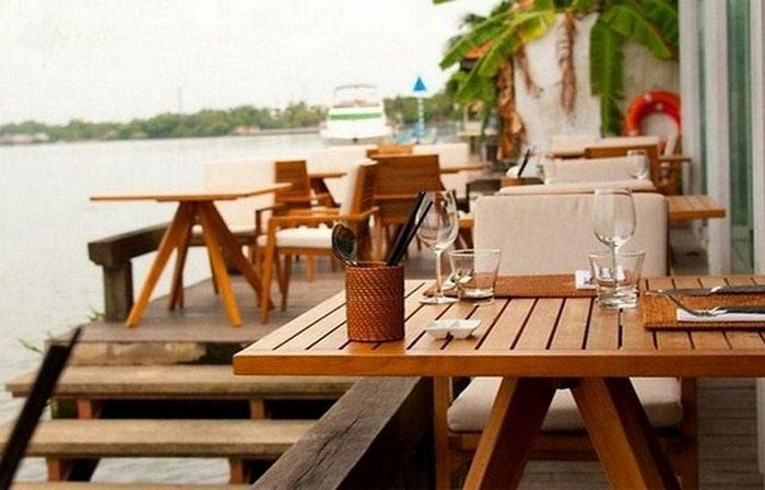 gỗ nhựa làm bàn ghế ngoài trời