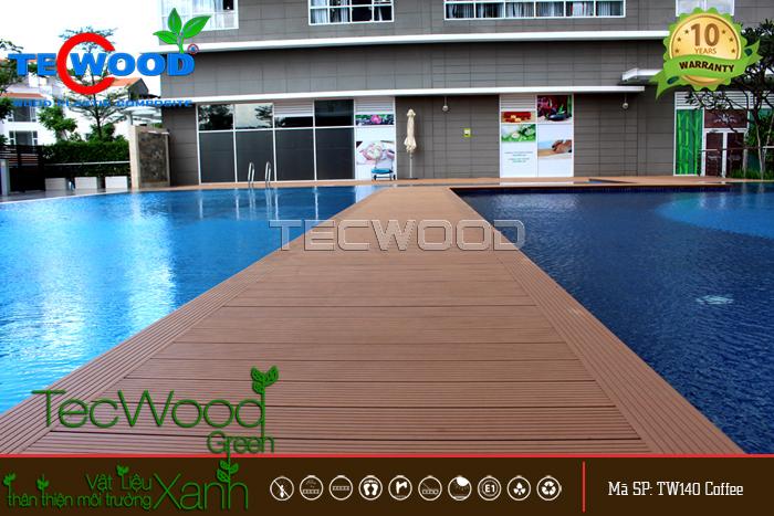 sàn gỗ hồ bơi đẹp