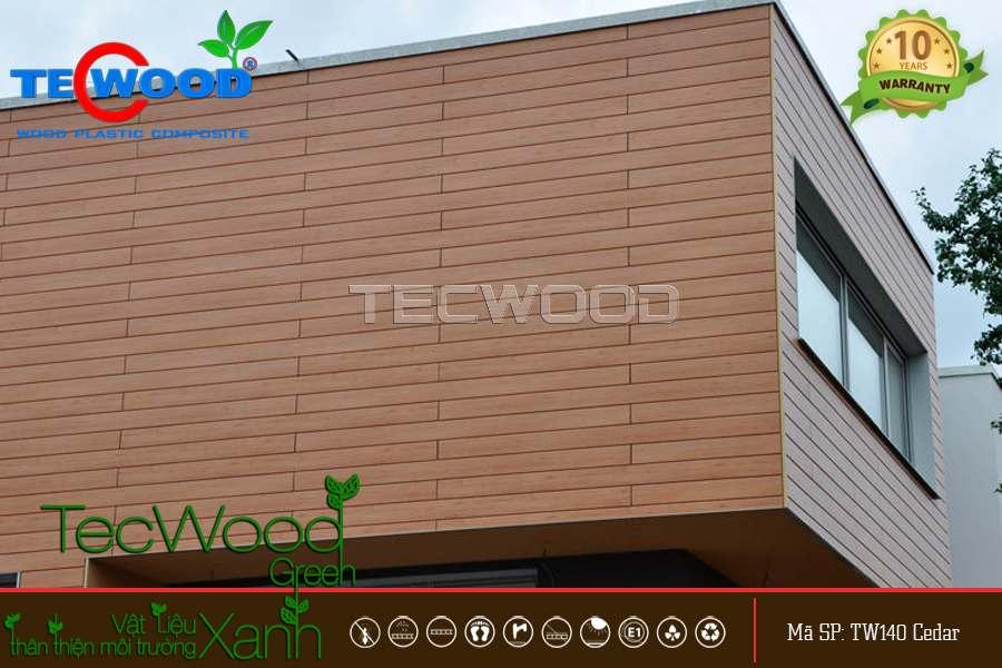 gỗ nhựa ngoài trời ốp tường