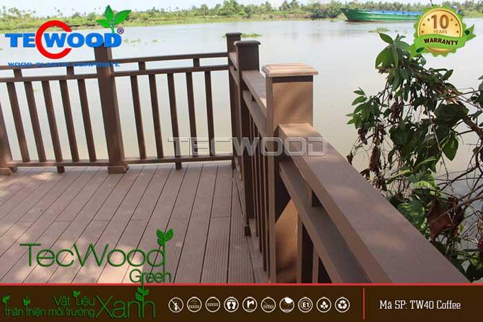 hàng rào giả gỗ