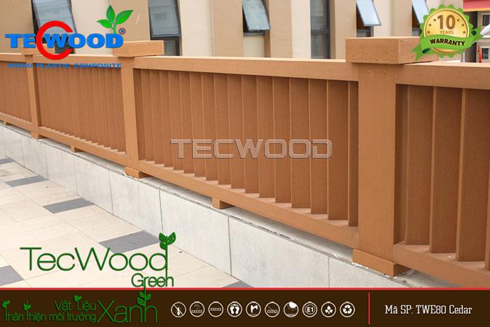 hàng rào gỗ tecwood