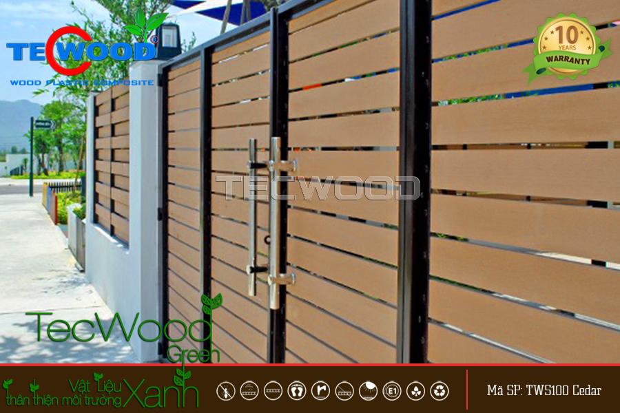 thanh gỗ nhựa làm hàng rào