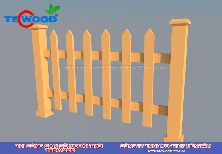 Hàng rào nhựa gỗ ngoài trời Tecwood
