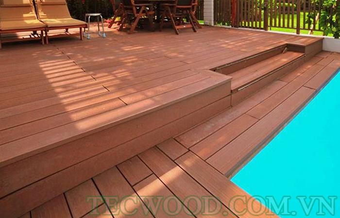 Kiểu sàn gỗ sang trọng ngoài trời với tone màu Cedar ấn tượng