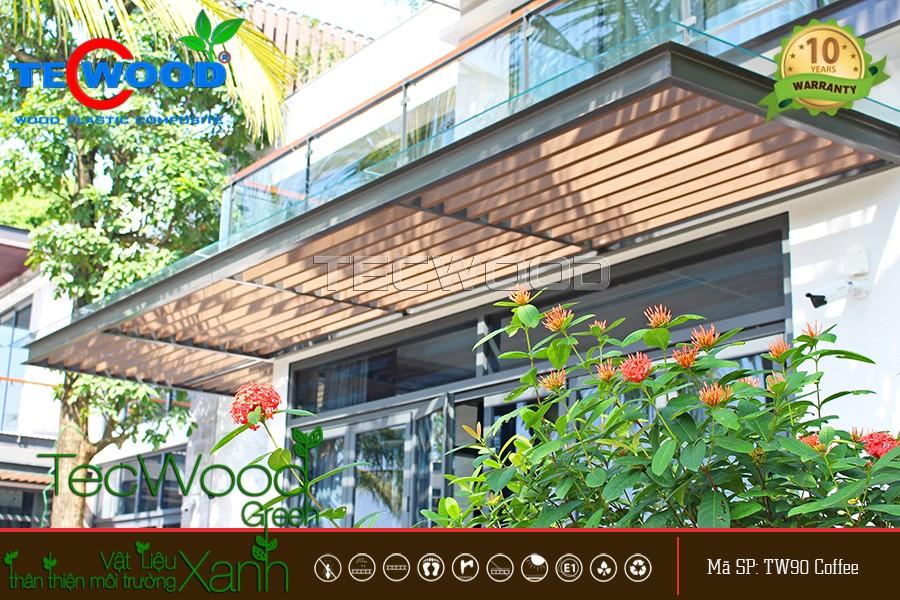 làm giàn lam che nắng cho villa Ecopark Grand Hưng yên