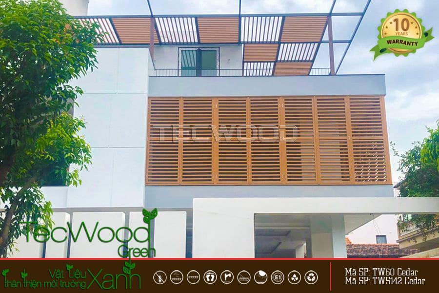 lắp đặt lam gỗ nhựa tại Biên Hòa