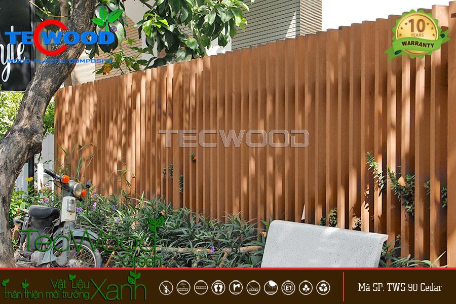 lam gỗ nhựa làm hàng rào