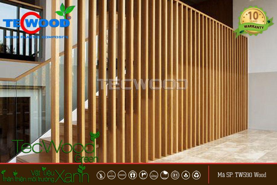 lam gỗ trang trí cầu thang 5