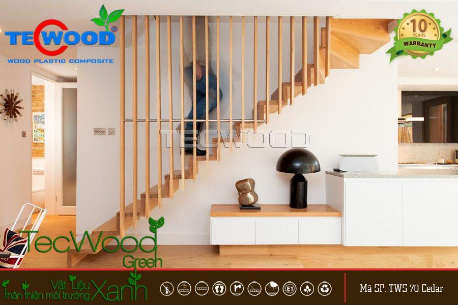 lam gỗ trang trí cầu thang 7