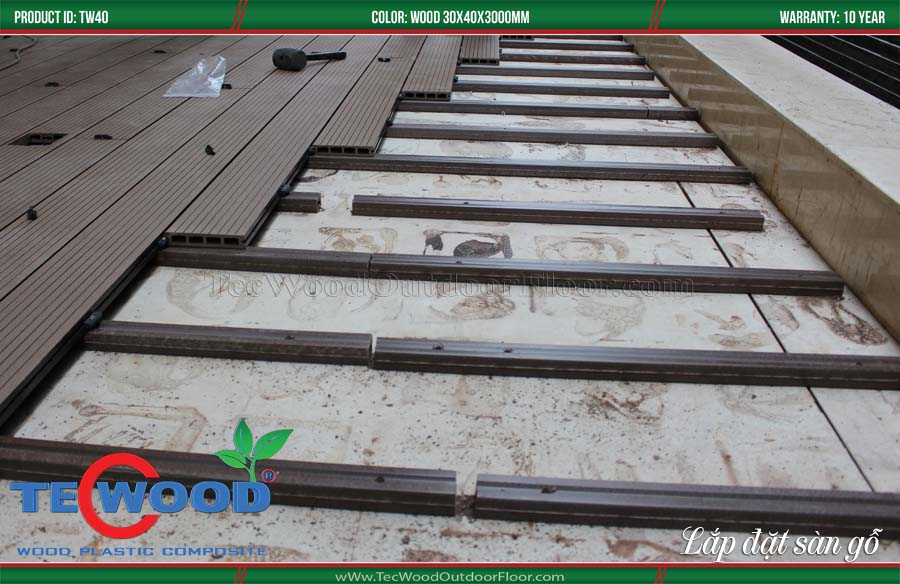 thi công, lắp đặt sàn gỗ ngoài trời 1