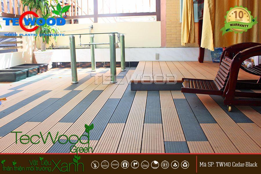 gỗ nhựa lót sàn ban công