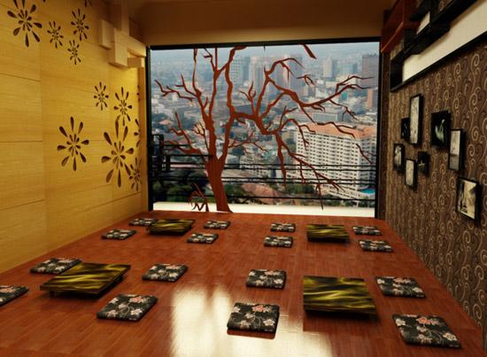 mẫu gỗ lót sàn quán cà phê độc đáo