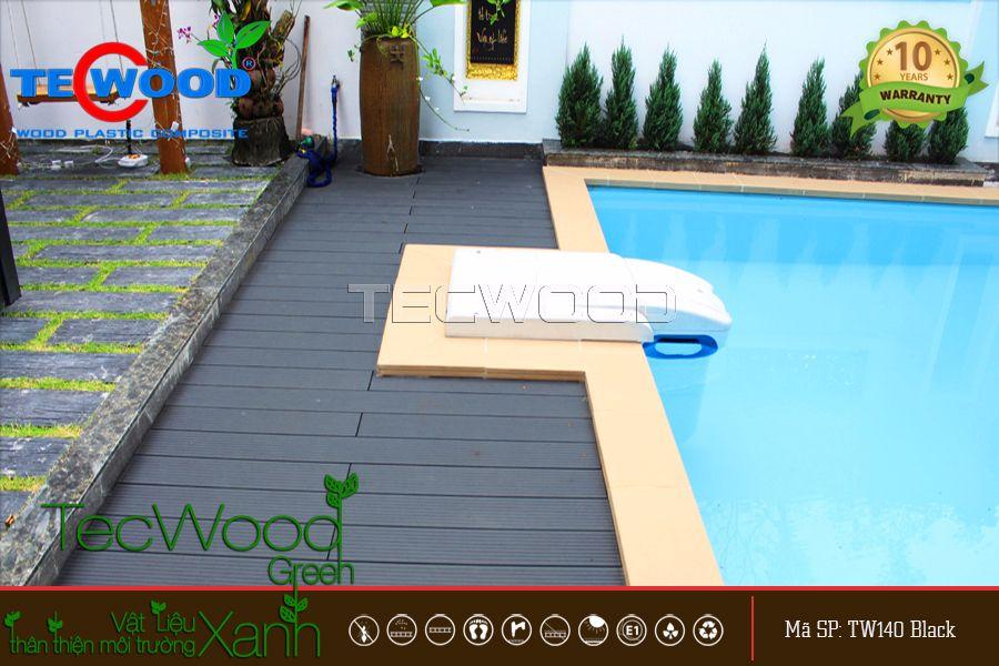 mẫu sàn gỗ lát hồ bơi đẹp