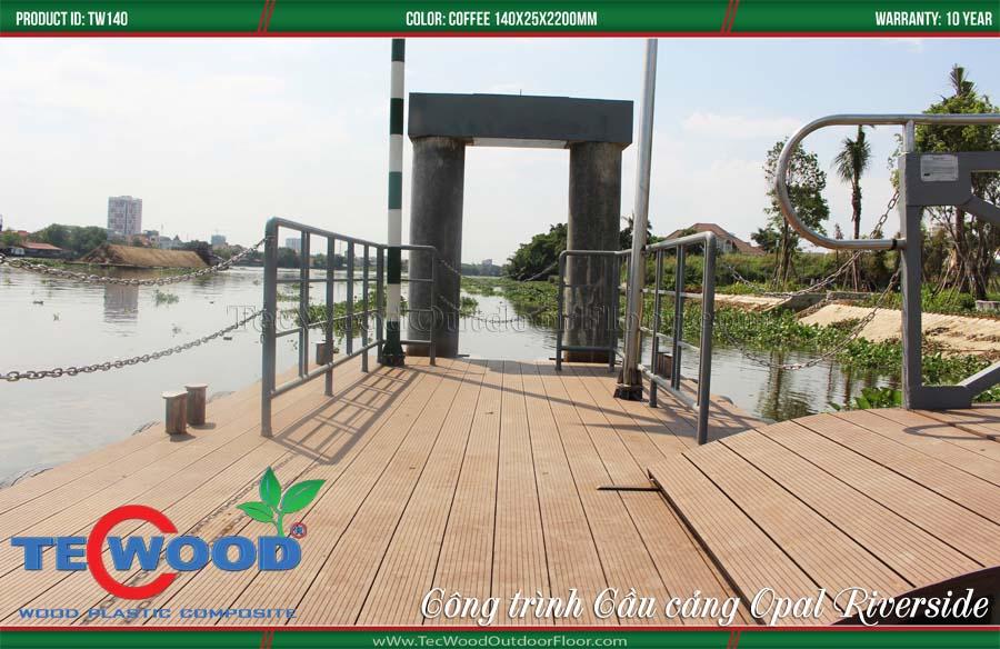 Ứng dụng sàn gỗ ngoài trời lót cầu cảng trang trí