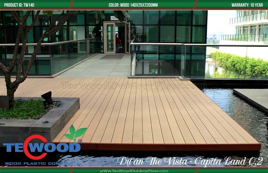 Sàn gỗ công nghiệp lót sàn hồ bơi