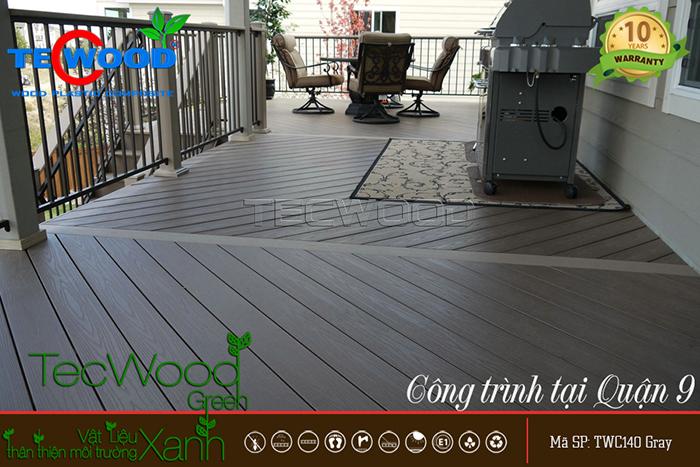 Sàn gỗ nhựa lót ban công