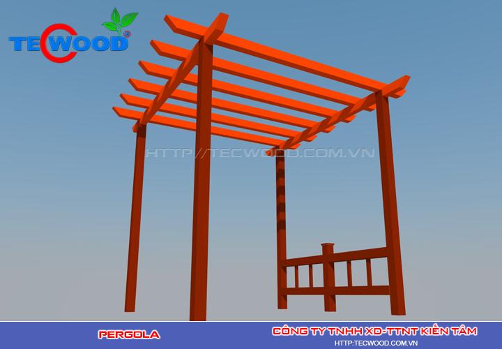 Pergola gỗ nhựa Tecwood