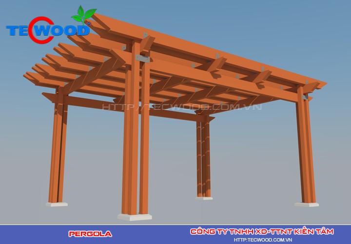 Pergola nhựa gỗ Tecwood