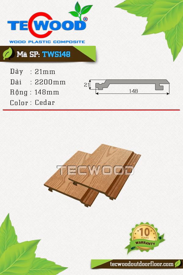 Quy cách gỗ nhựa ốp tường tại TecWood