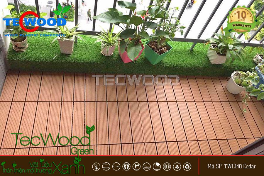 sàn gỗ trang trí ban công