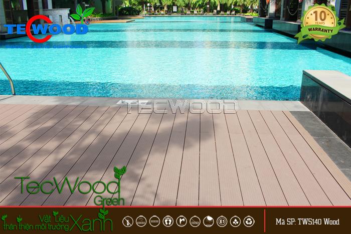 mẫu sàn gỗ hồ bơi