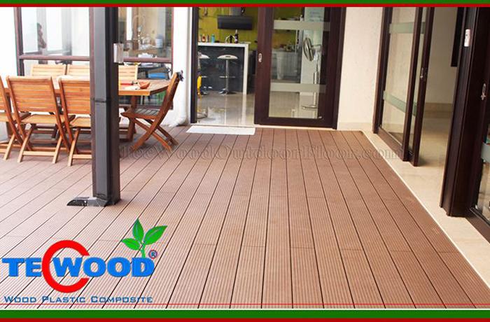Sàn gỗ ngoài trời lót sàn sân vườn