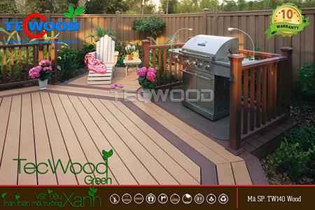 lắp đặt sàn gỗ nhựa ngoài trời tại Cần Thơ