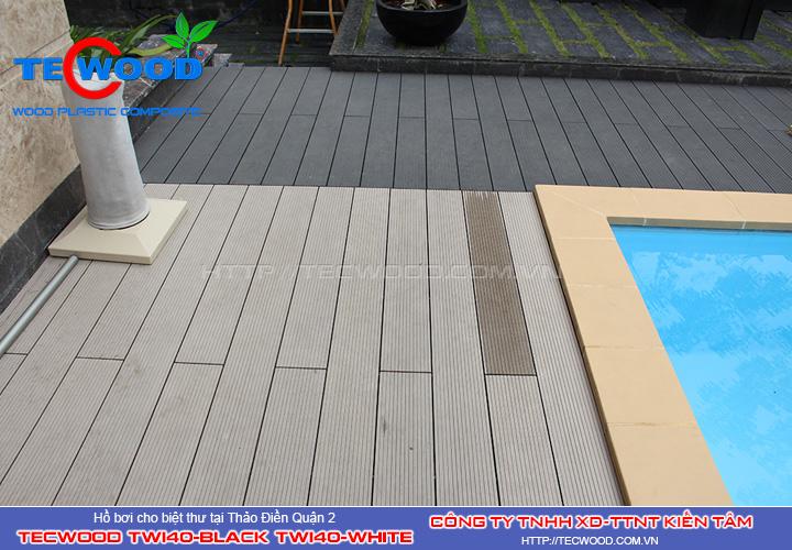 Sàn gỗ ngoài trời hồ bơi