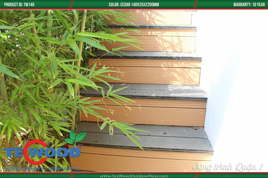 sàn gỗ ngoài trời lát cầu thang 1