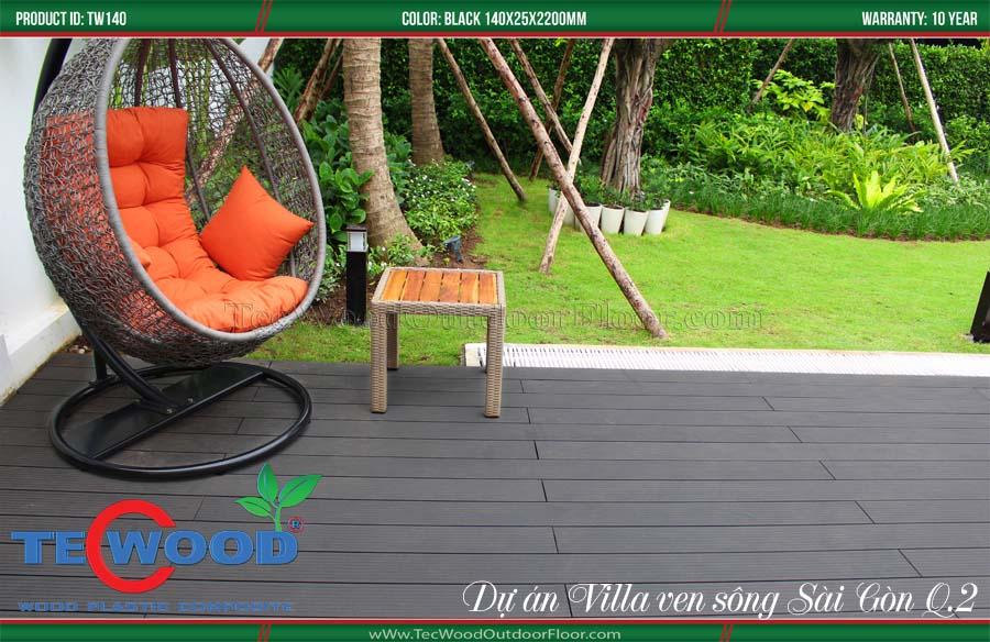 Sàn gỗ lót sân vườn chống nóng