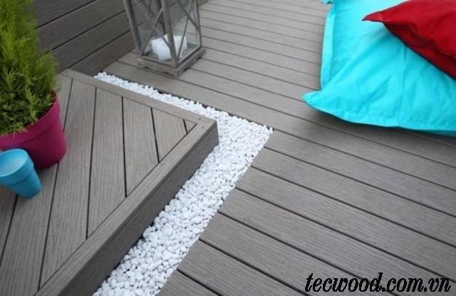 Sàn gỗ ngoài trời lót sàn trước sân nhà