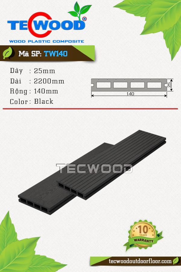 Mẫu sàn gỗ công nghiệp TW140 màu Black