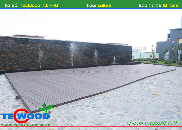 Sàn gỗ ngoài trời Tecwood cho hồ bơi và sân vườn