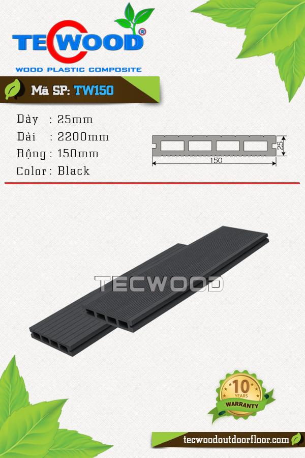 Mẫu sàn gỗ công nghiệp TW150 màu black