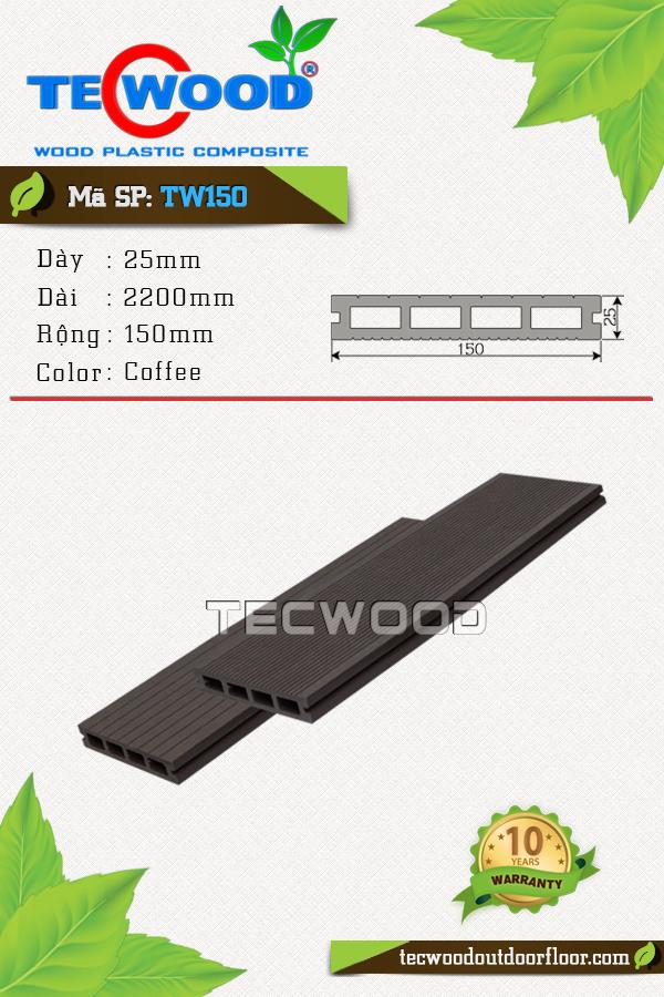 Mẫu sàn gỗ công nghiệp đẹp TW150 màu coffee