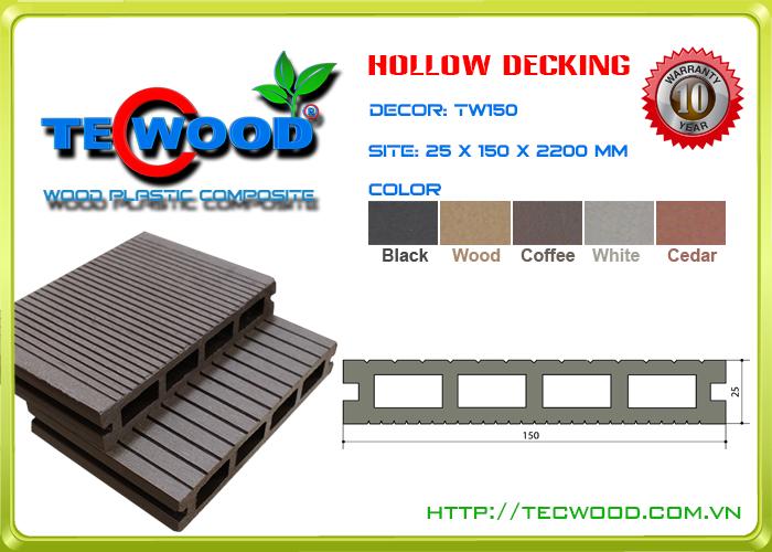 Sàn gỗ ngoài trời Tecwood Tw150-Coffee