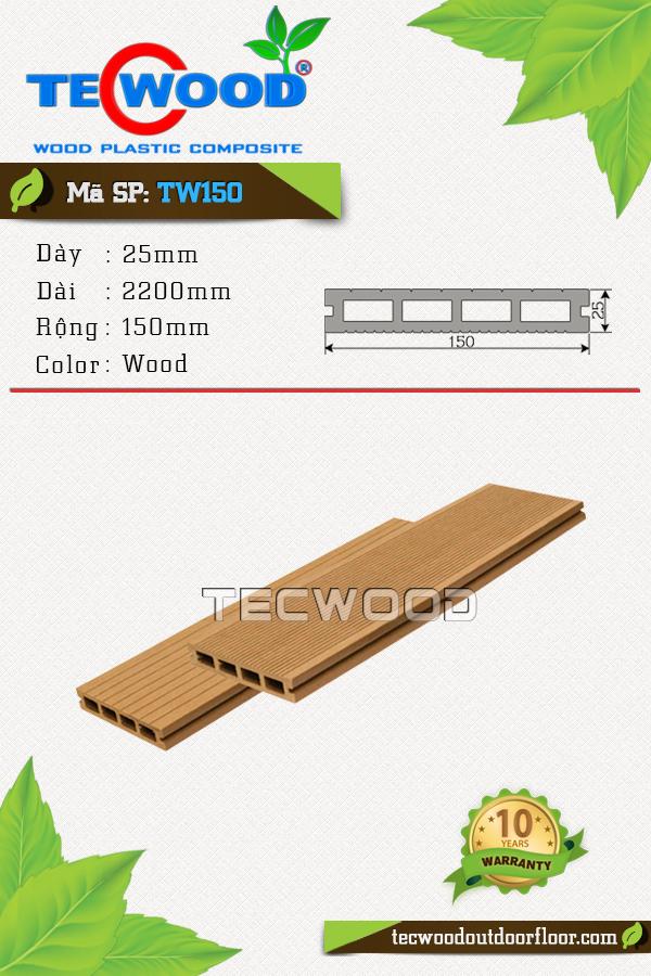 Mẫu sàn gỗ công nghiệp đẹp TW150 màu wood