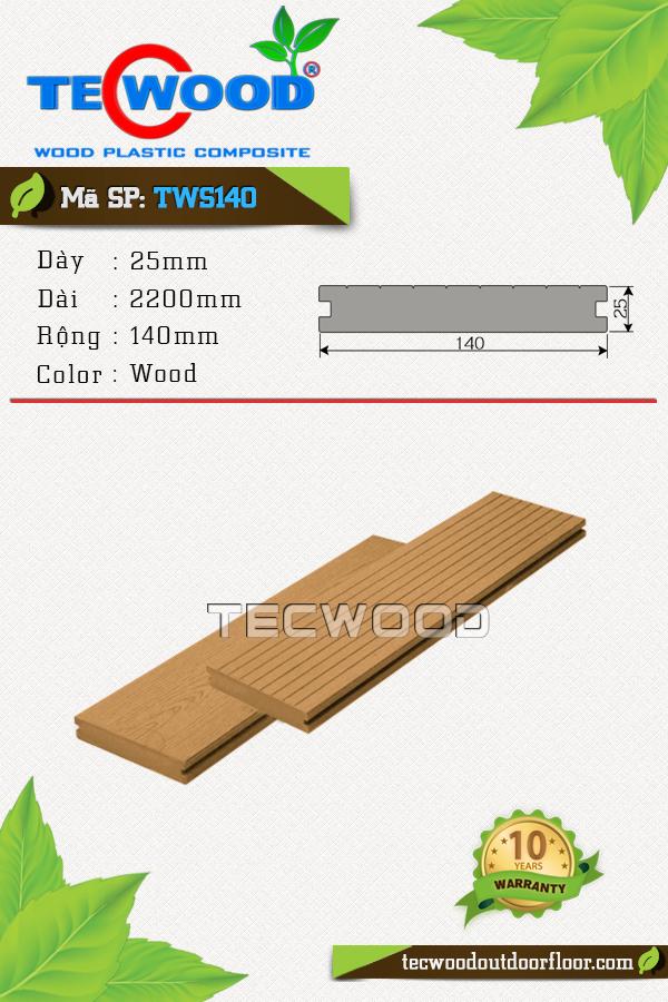 Mẫu ván sàn ngoài trời giá rẻ TWS140