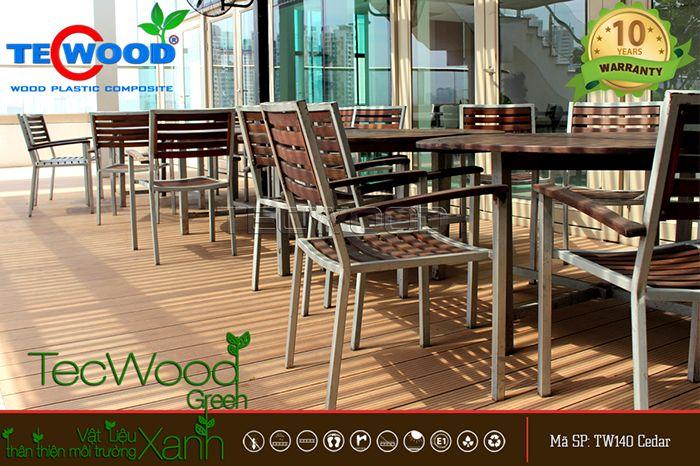 Sản phẩm sàn gỗ ngoài trời TW140 Cedar
