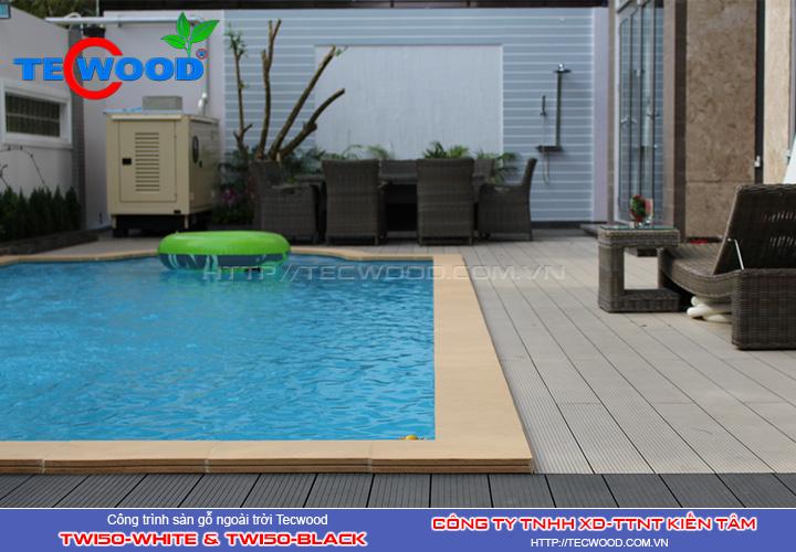 Sàn gỗ ngoài trời Tecwood TW150-White