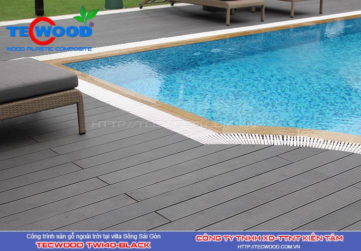 Sàn gỗ ngoài trời Tecwood TW140-Black